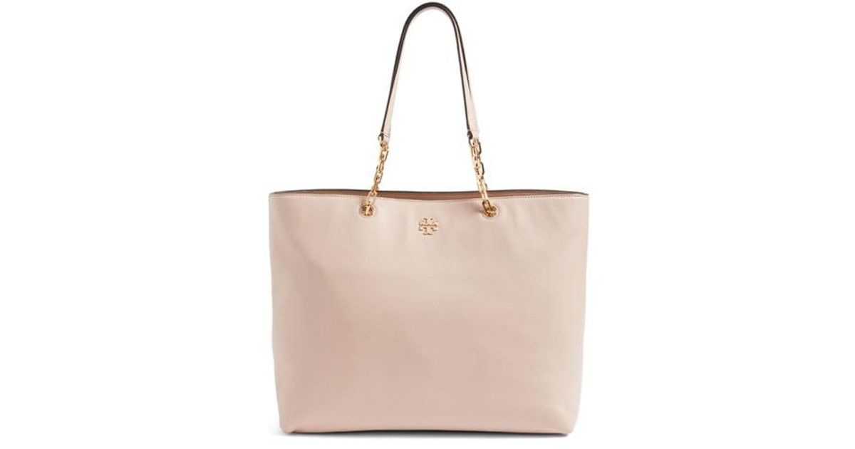 d22e7dcbf97 Lyst - Tory Burch Frida Pebbled Leather Tote in Pink