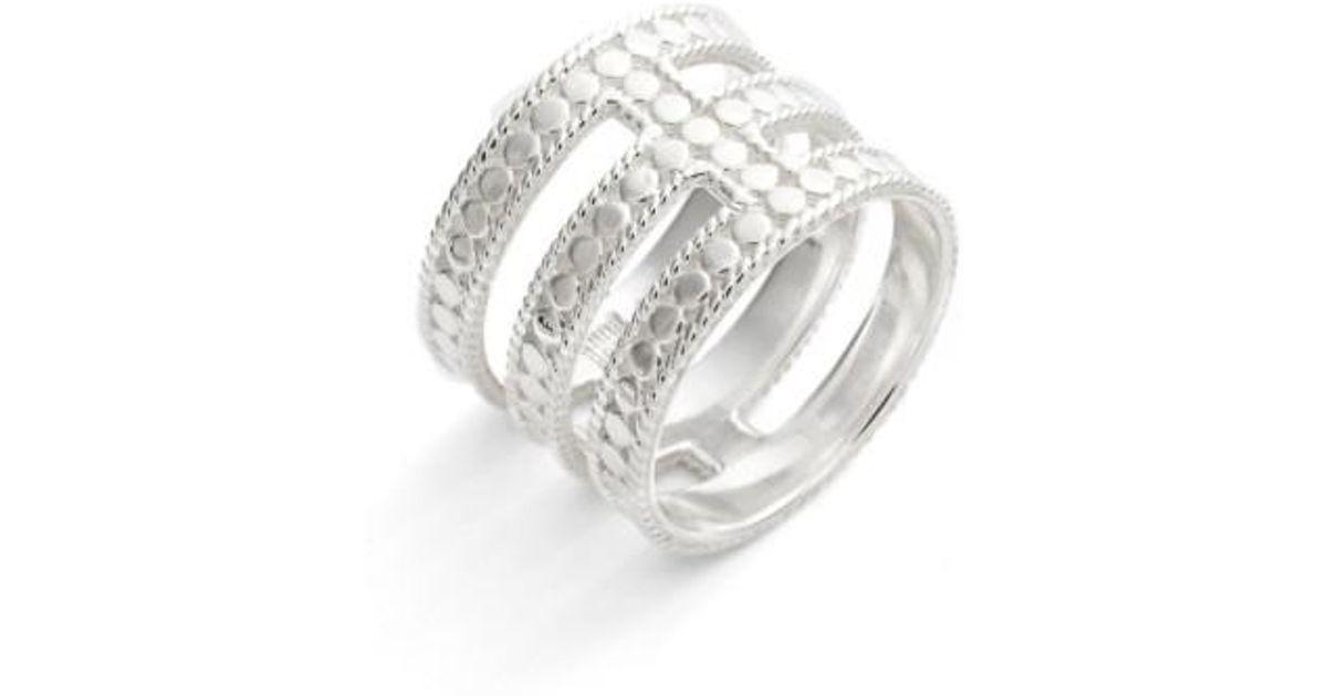 8e4bfa7b5 Lyst - Anna Beck Gili Cutout Ring in Metallic