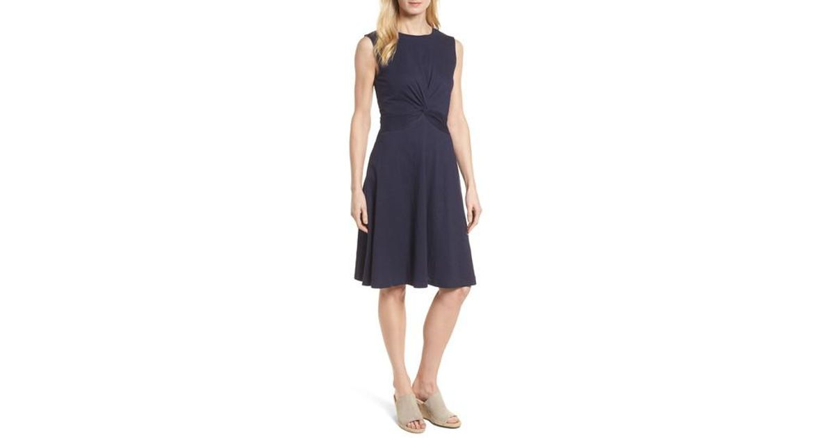 2c92acdb2b4e Lyst - Caslon Caslon Twist Front Knit Dress in Blue