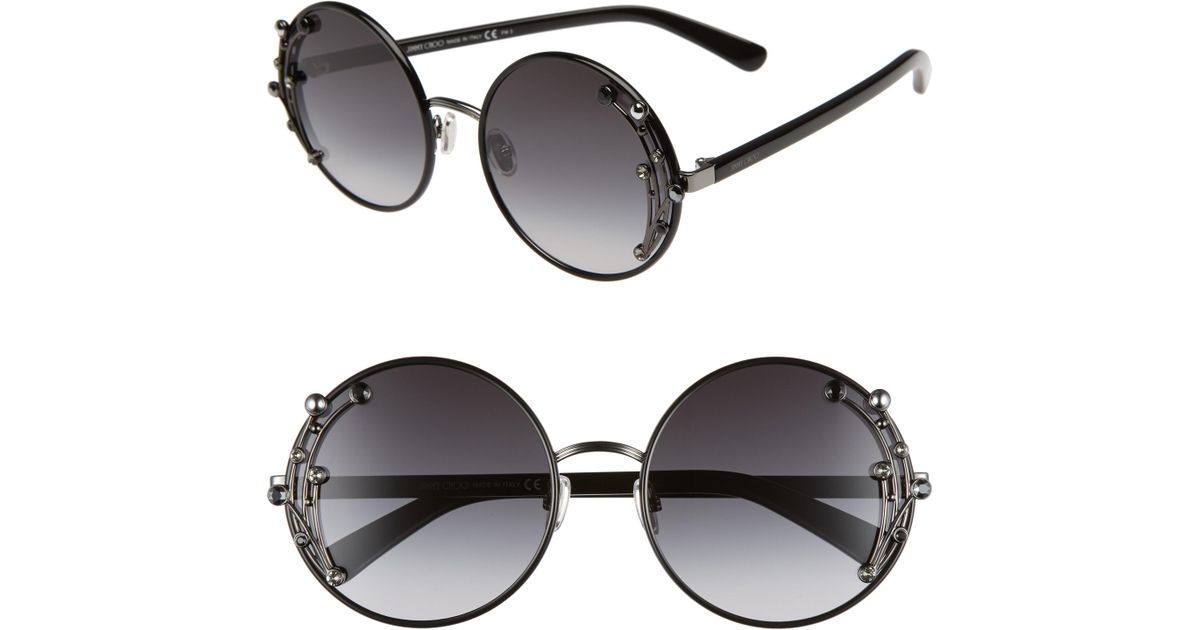 cf9b66acc47 Lyst - Jimmy Choo Gema 59mm Round Sunglasses -