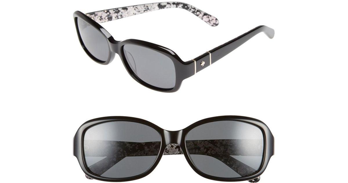 cf8a5c0faa05a Lyst - Kate Spade Cheyenne 55mm Polarized Sunglasses -