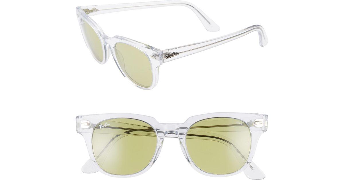 192cd24e70 Lyst - Ray-Ban Meteor 50mm Wayfarer Photochromic Sunglasses - Crystal   Green Solid in Green