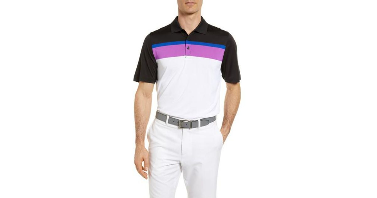 072875f93 Lyst - Cutter   Buck Hugh Stripe Drytec Jersey Polo in White for Men