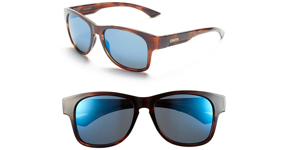 9cf05753d2 Lyst - Smith  wayward  54mm Polarized Sunglasses - Havana  Polar Blue  Mirror in Blue
