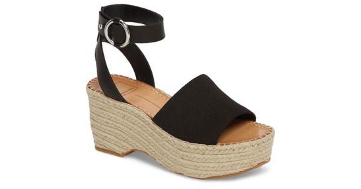 5b8a5ce881c Lyst - Dolce Vita Lesly Espadrille Platform Sandal in Black
