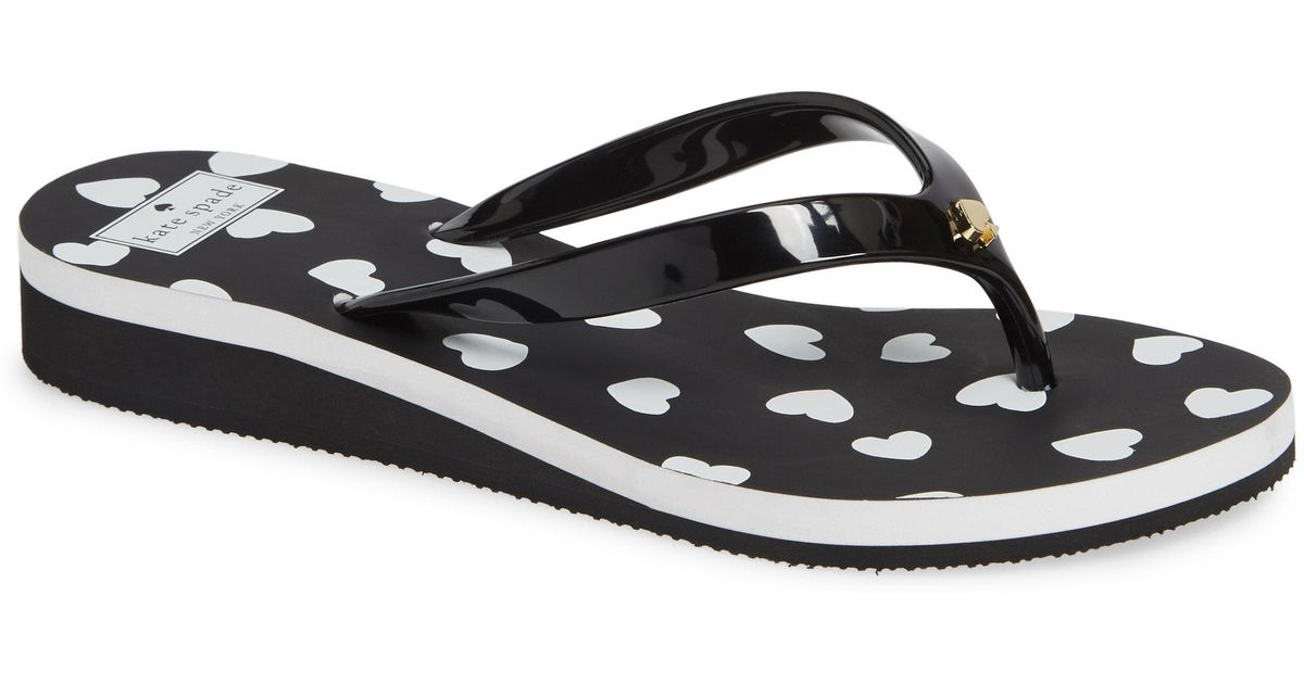 efaf049531c0 Lyst - Kate Spade Milli Wedge Flip-flop in Black