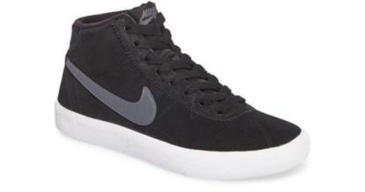 ed42ef8c4d0d Lyst - Nike Women s Sb Bruin Hi Skate Shoe in Black