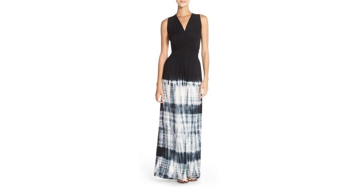 6dfefc44bc Lyst - Fraiche By J Ombré Jersey Maxi Dress in Black