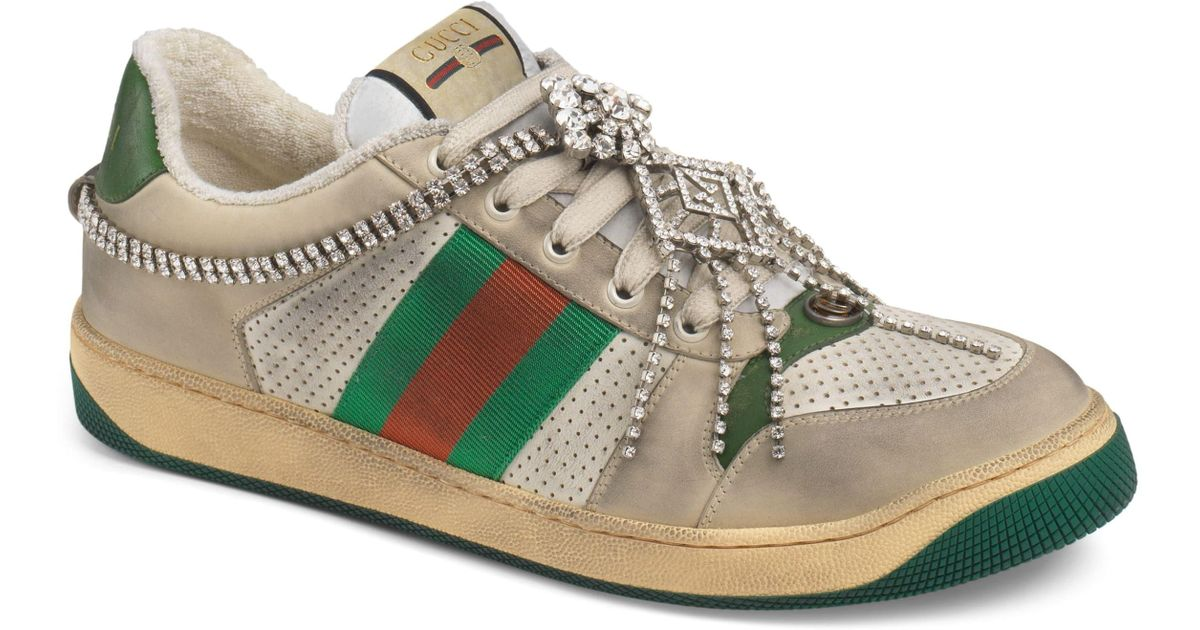 3c45f1079 Gucci Screener Jewel Sneaker in Green for Men - Lyst