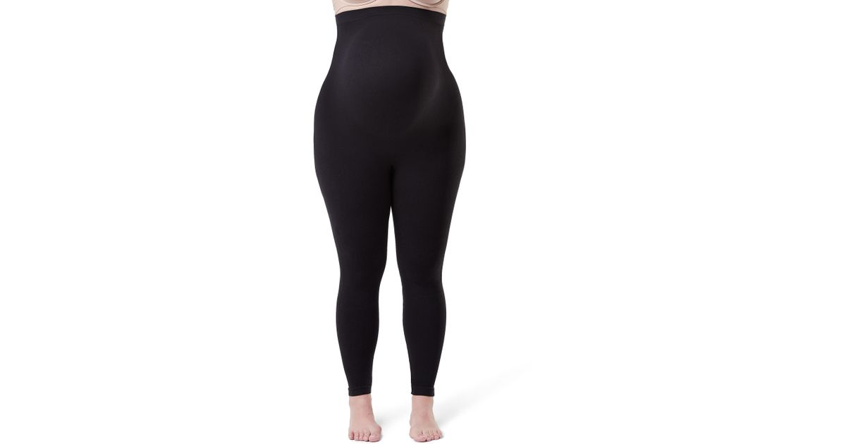 092d41ef88f86b Spanx Spanx Mama Look At Me Now Seamless Maternity Leggings in Black - Lyst