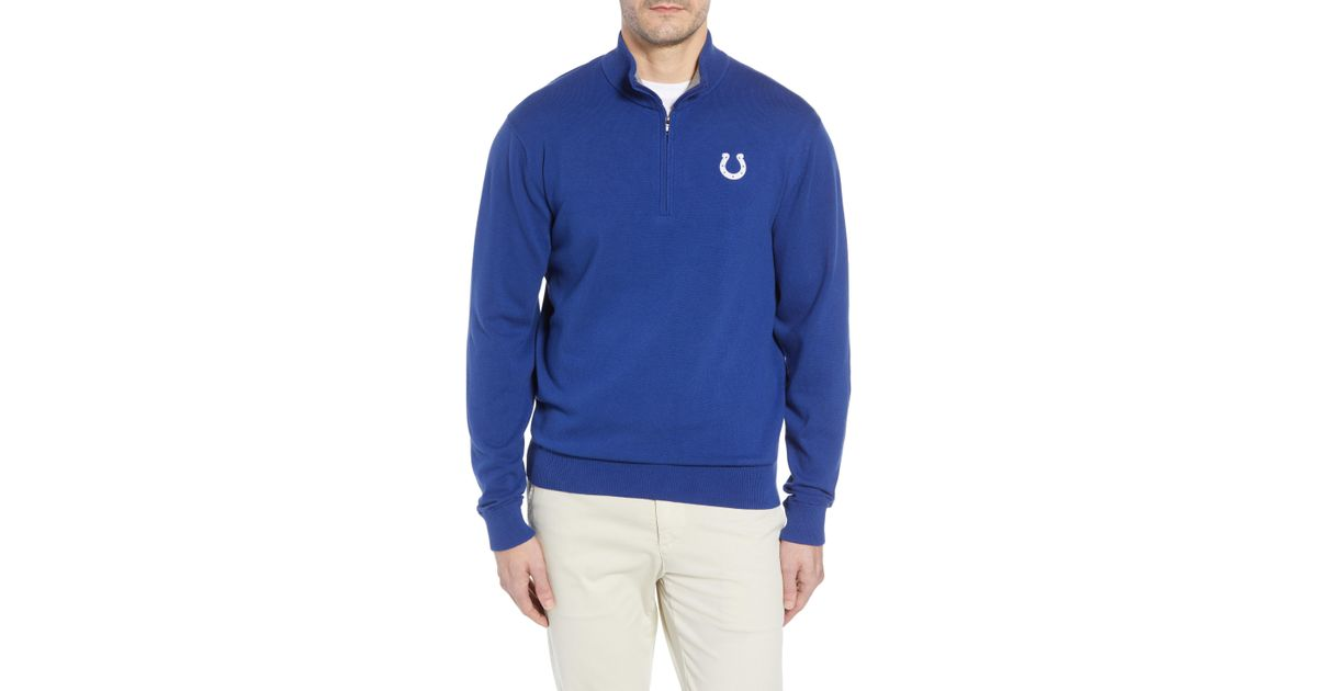 3039fea6465 Lyst - Cutter   Buck Indianapolis Colts - Lakemont Regular Fit Quarter Zip  Sweater in Blue for Men