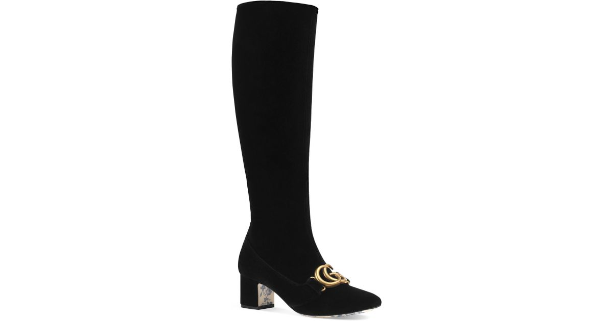 b7fd1714670 Gucci Victoire Marmont Boot in Black - Save 16.593186372745492% - Lyst