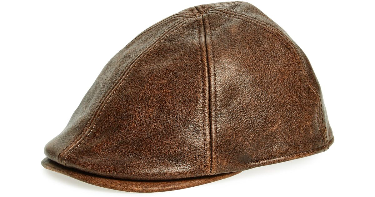 8b45321e Goorin Bros Fortunato Liberati Leather Driving Cap - in Brown for Men - Lyst
