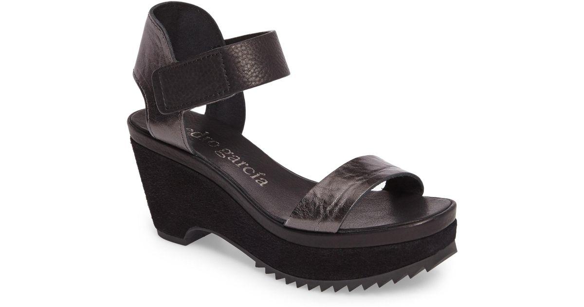 fb501ff69fd Lyst - Pedro Garcia Franses Flatform Sandal in Black - Save 66%