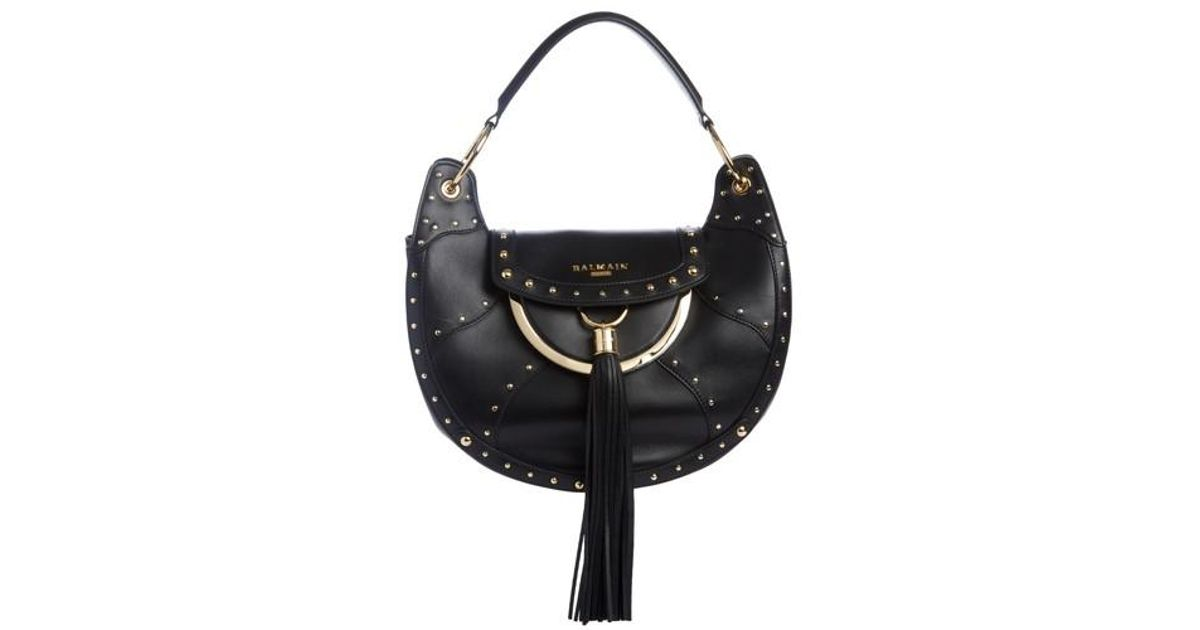 Domaine leather shoulder bag Balmain uJlZk7