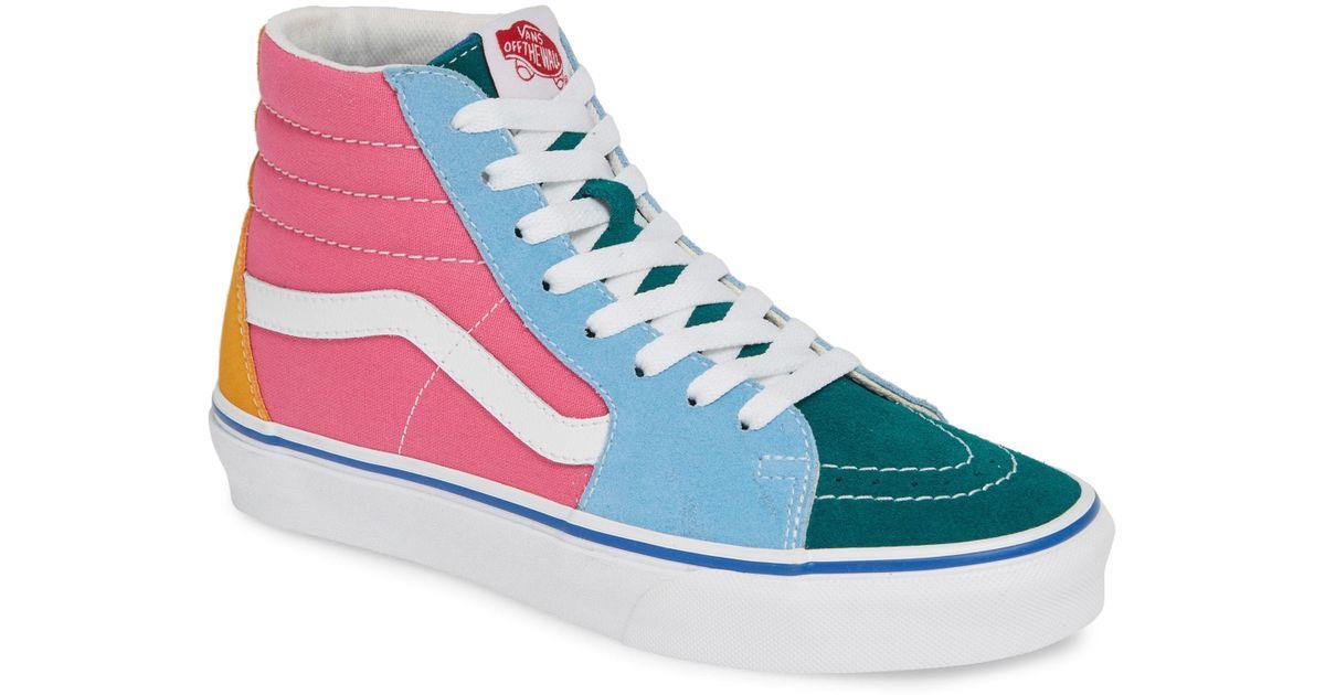 99f24666c79 Lyst - Vans Sk8-hi Colorblock Sneaker in Blue