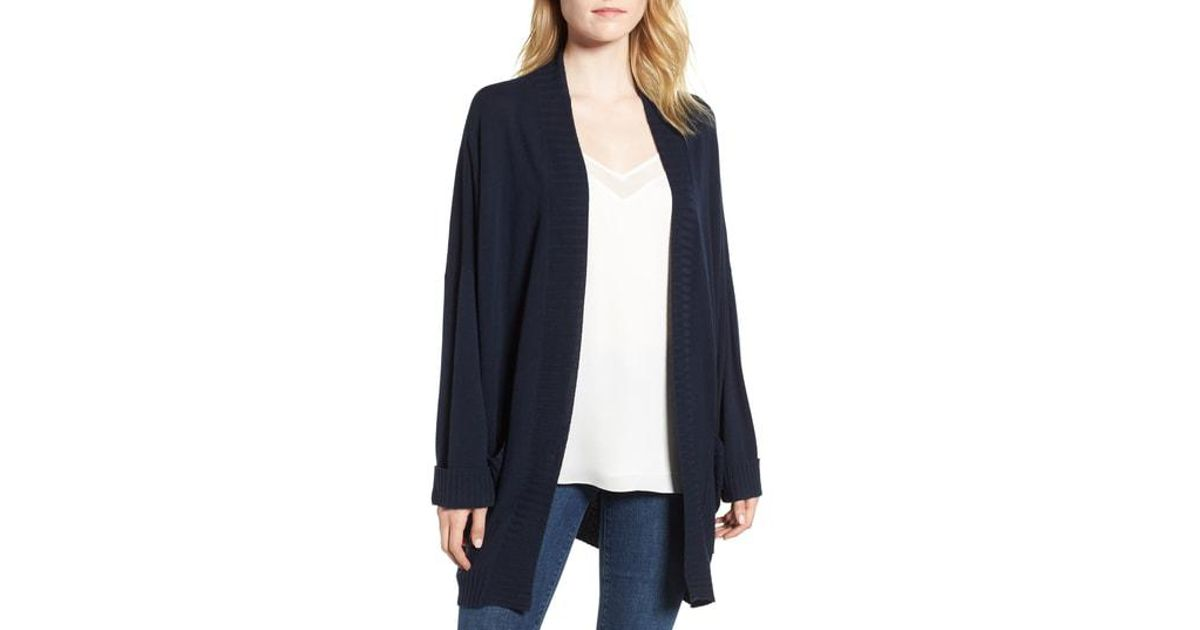 e6fbeb192d0 Lyst - Chelsea28 Oversize Open Cardigan in Blue - Save 36%