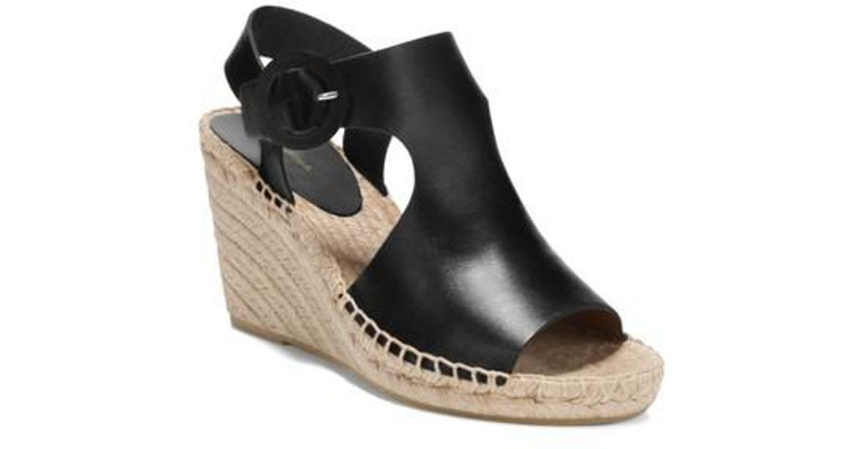 01d900c72d39 Lyst - Via Spiga Women s Nolan Espadrille Wedge Heel Sandals in Black -  Save 70%