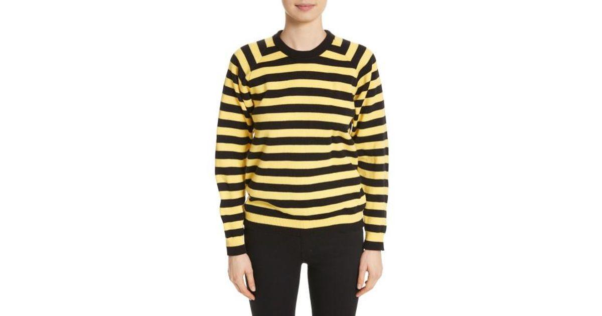 Lyst Molly Goddard Bumblebee Stripe Sweater In Yellow