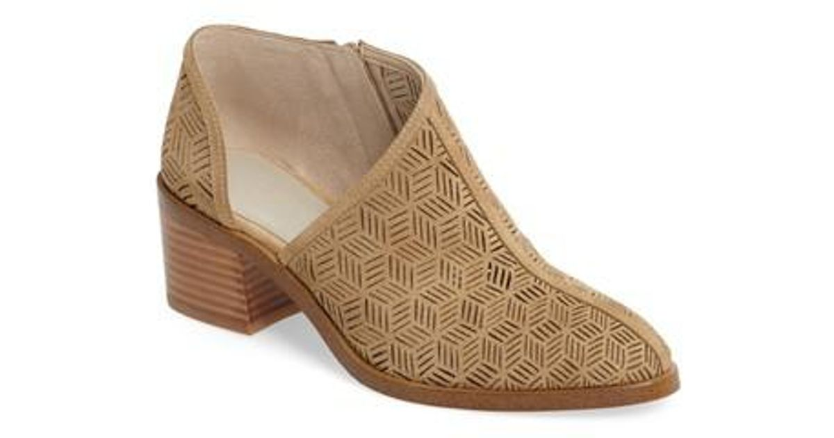 f708022a948 Lyst - 1.STATE Iddah Perforated Cutaway Bootie in Natural