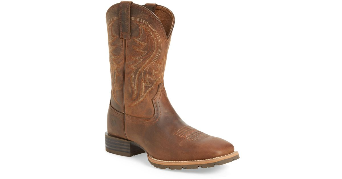 a2f1397d4d0 Ariat - Brown Hybrid Rancher Cowboy Boot for Men - Lyst