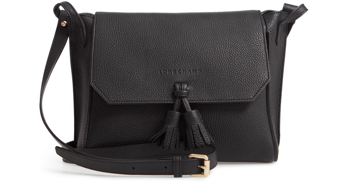 6834c5dc96 Longchamp Large Penelope Leather Crossbody Bag - in Black - Lyst