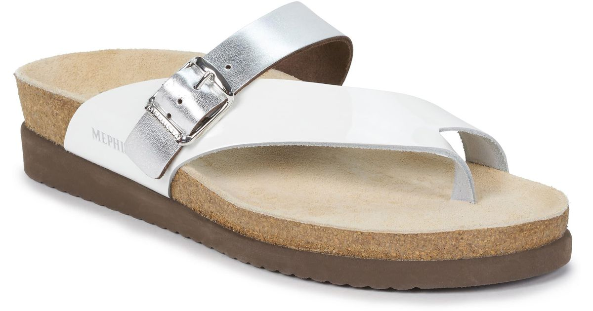b2a4116e42 Mephisto Helen Mix Sandal in White - Lyst