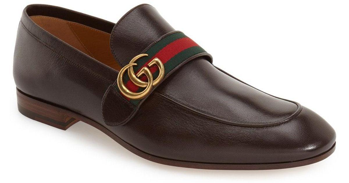 92e9a82e6e9 Lyst - Gucci Donnie Bit Loafer in Brown for Men