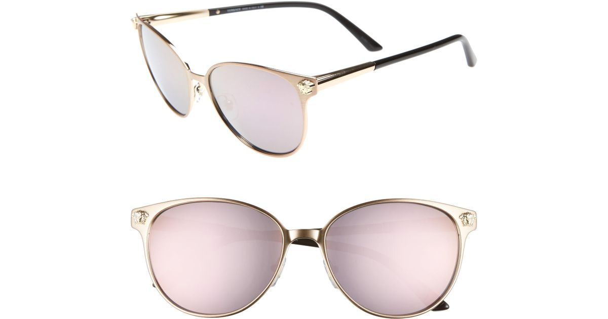 6b088c81e29f Versace Glam Medusa 57mm Cat Eye Sunglasses in Pink - Lyst