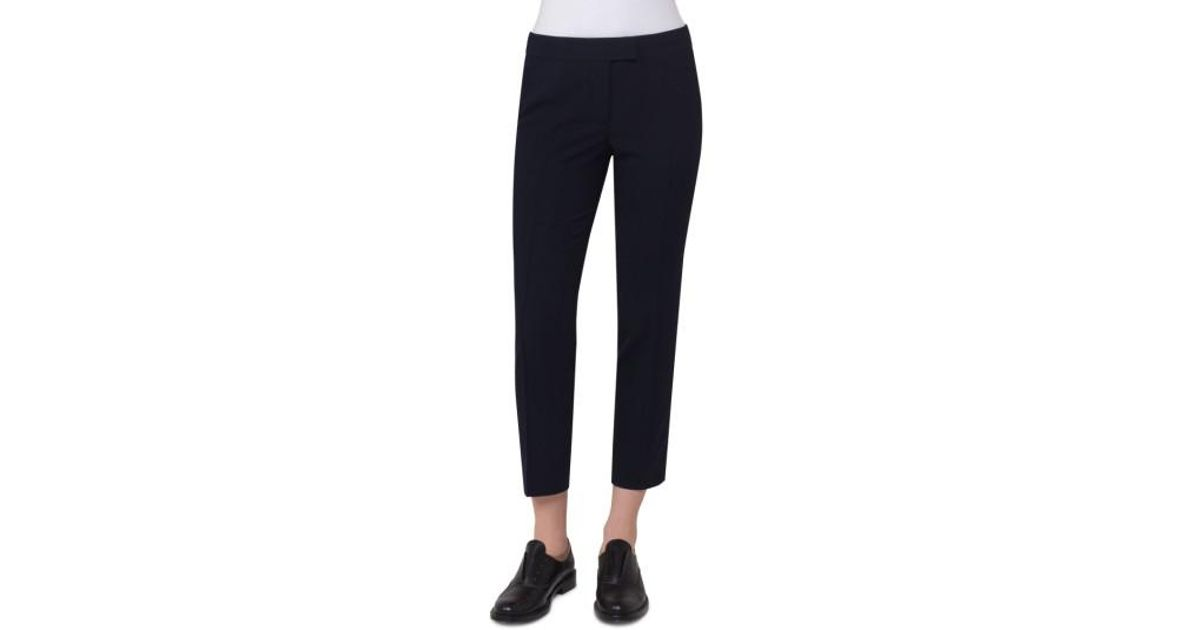 0d2814c92e49 Lyst - Akris Punto Wool Blend Seersucker Pants in Blue