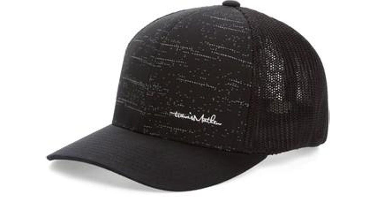 Lyst - Travis Mathew Oliver Trucker Cap in Black for Men b9c26b70da2c