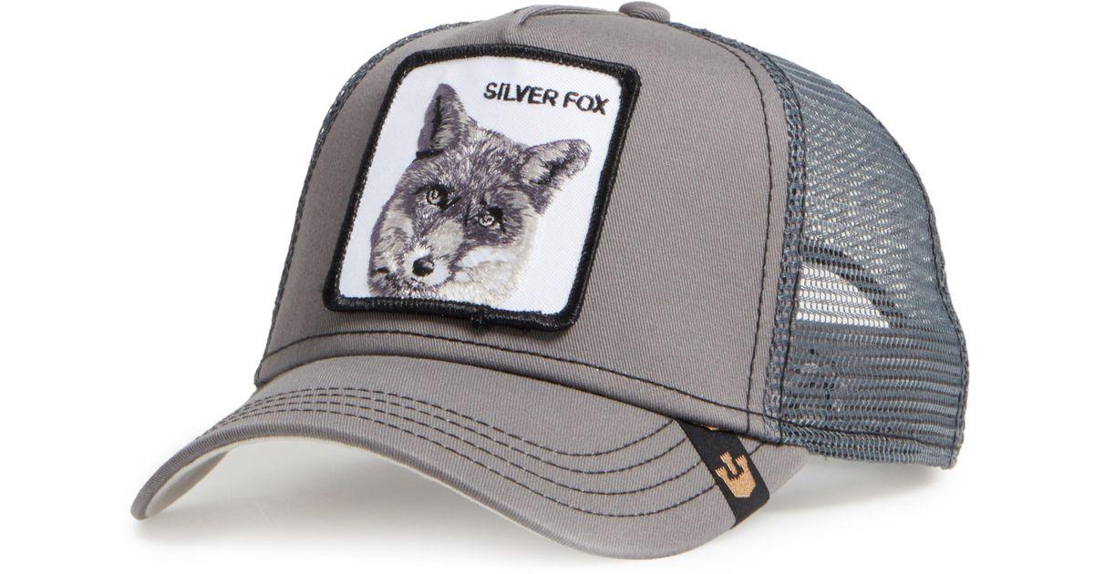 e89a956662696 Goorin Bros  silver Fox  Trucker Hat in Gray for Men - Lyst