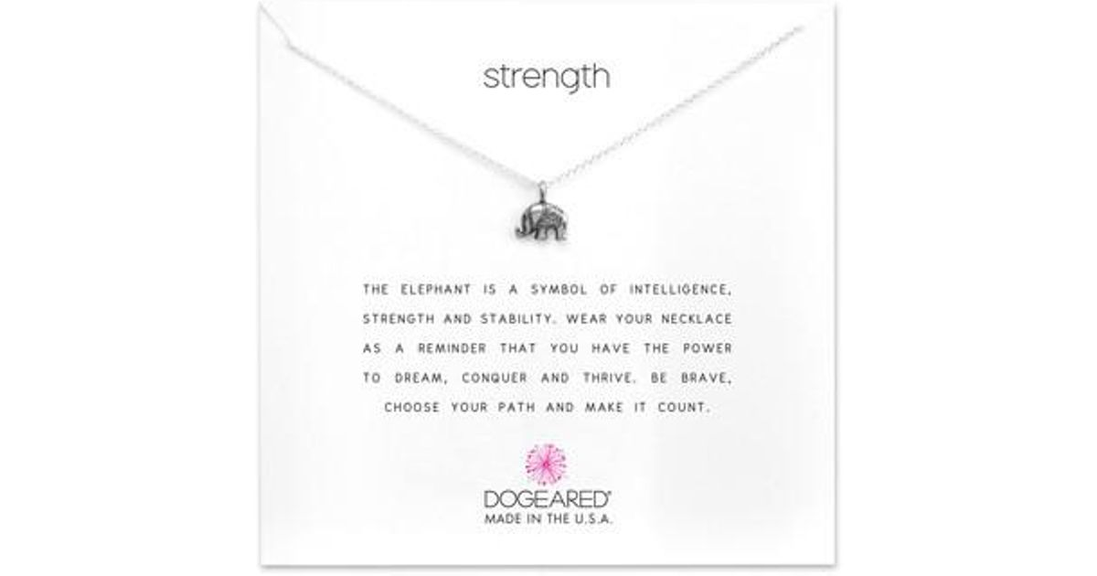 Lyst Dogeared Reminder Strength Pendant Necklace
