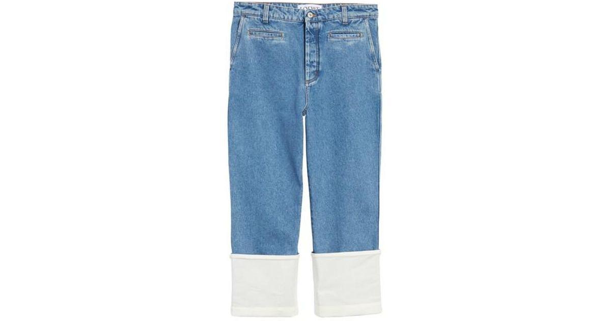 + Paulas Ibiza Twill-paneled Mid-rise Straight-leg Jeans - Indigo Loewe ntgOOSlJRK
