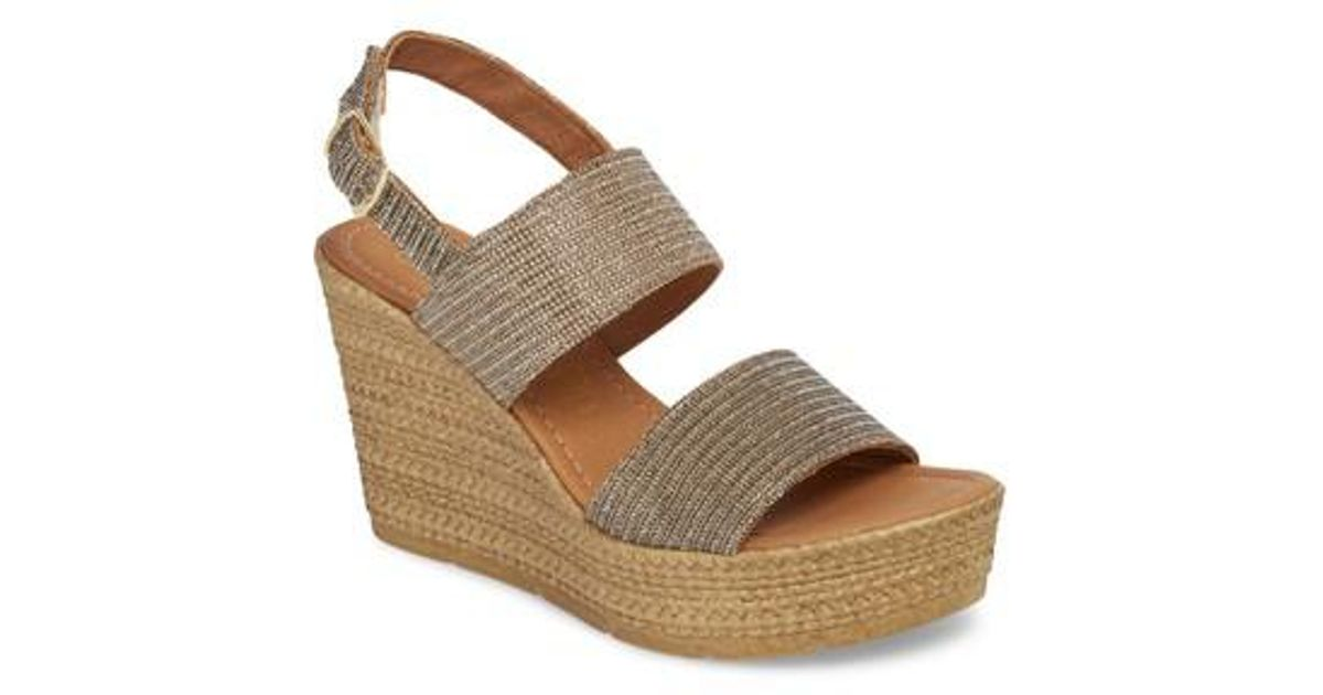 0097ce6a32c Lyst - Seychelles Downtime Wedge Sandal in Metallic