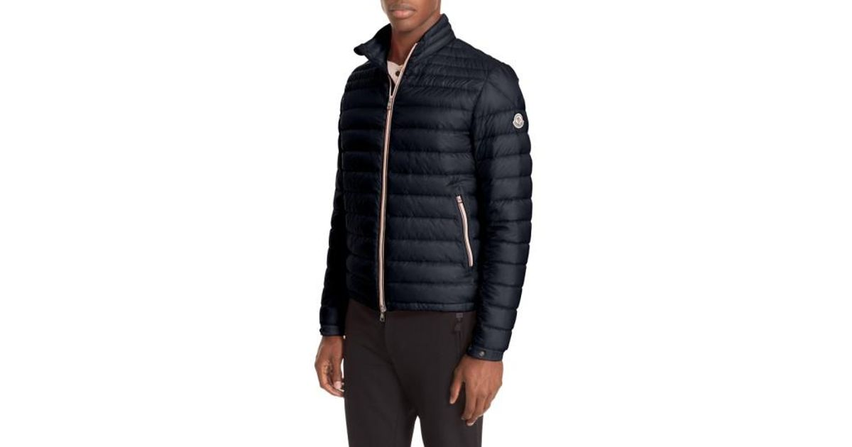 514f3383ab46 Lyst - Moncler Daniel Channel Quilted Down Jacket in Blue for Men