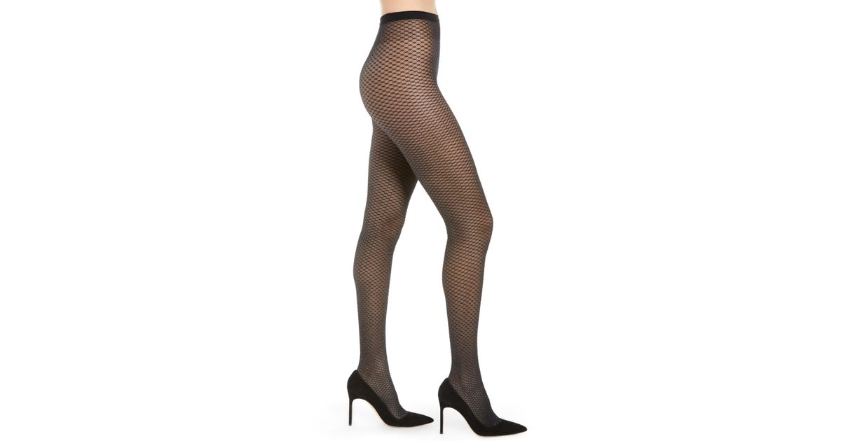 16dabad536ae8 Wolford Night Sparkle Fishnet Tights in Brown - Lyst