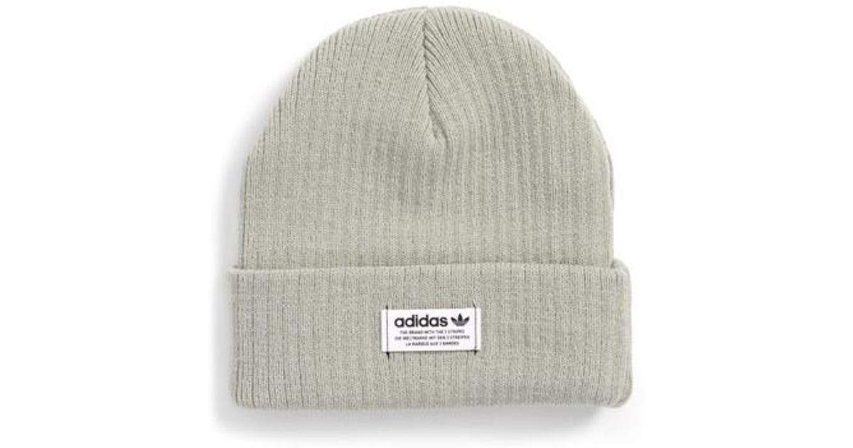 2e1280031fc96 Lyst - adidas Originals Wide Rib Knit Beanie in Green for Men