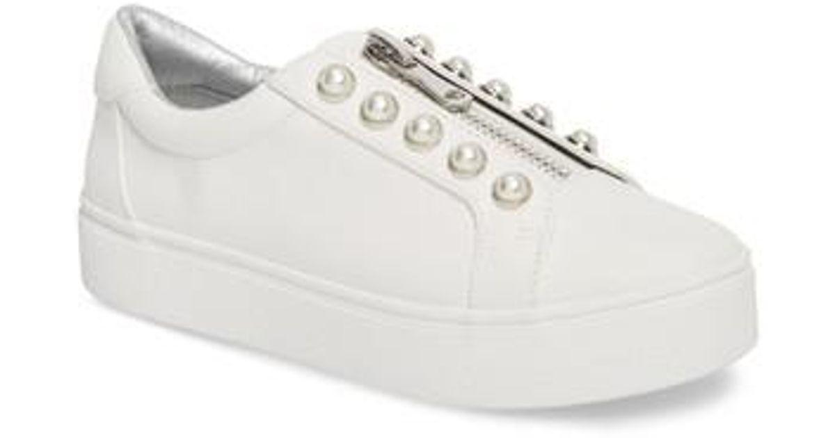 9bdc1369b5f Lyst - Steve Madden Lynn Embellished Platform Sneaker in Brown