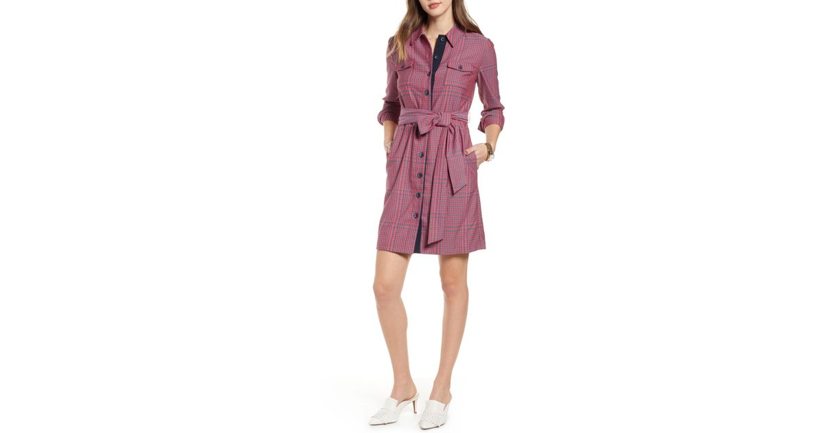 735ca48b9128 Lyst - Nordstrom 1901 Belted Utility Dress in Pink
