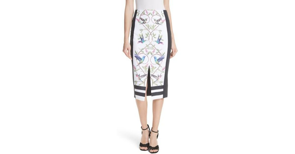 bf410a559 Lyst - Ted Baker Highgrove Pencil Skirt in White