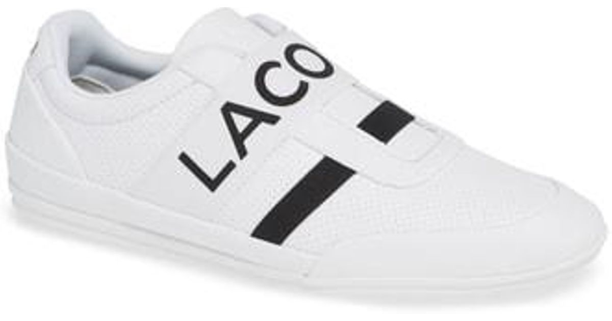 Sneaker For White In On Lacoste Misano Elastic Lyst Men Slip qTX7n8