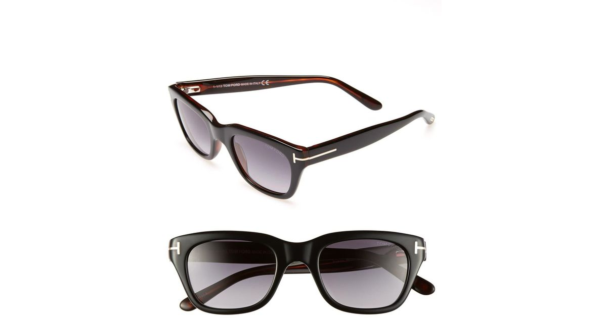 951d12cb0357f Tom Ford  snowdon  50mm Sunglasses - Shiny Black in Black for Men - Lyst