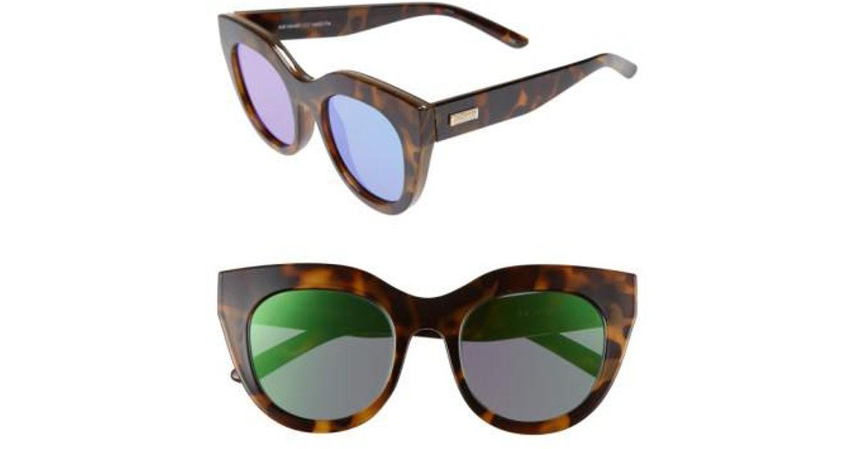 39d2b74a114 Lyst - Le Specs Air Heart 51mm Sunglasses - Milky Tort  Gold
