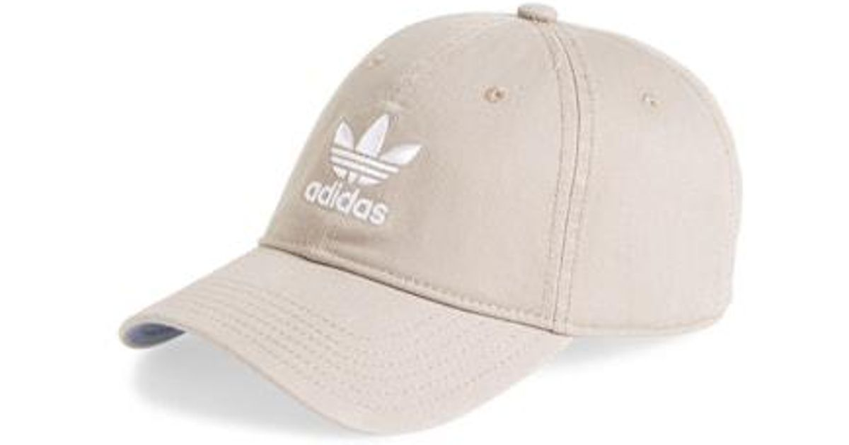 7c4ef57e51d Lyst - adidas Originals Relaxed Baseball Cap in Red for Men