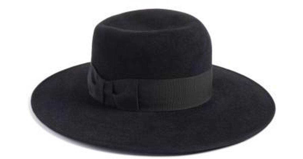 4917c0ee0a4 Lyst - Eric Javits Velour Padre Fur Felt Wide Brim Hat in Black for Men