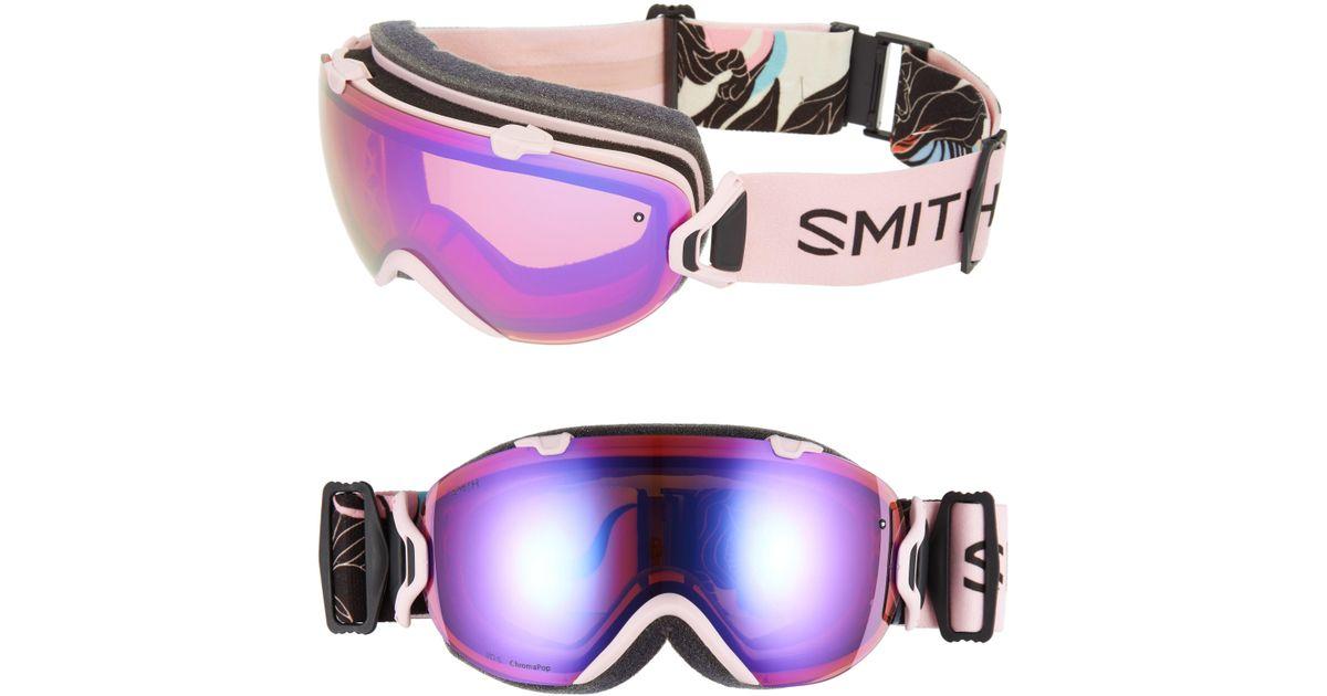 dd739abe38 Lyst - Smith I os Chromapop 202mm Snow Goggles - Gina Kiel in Blue