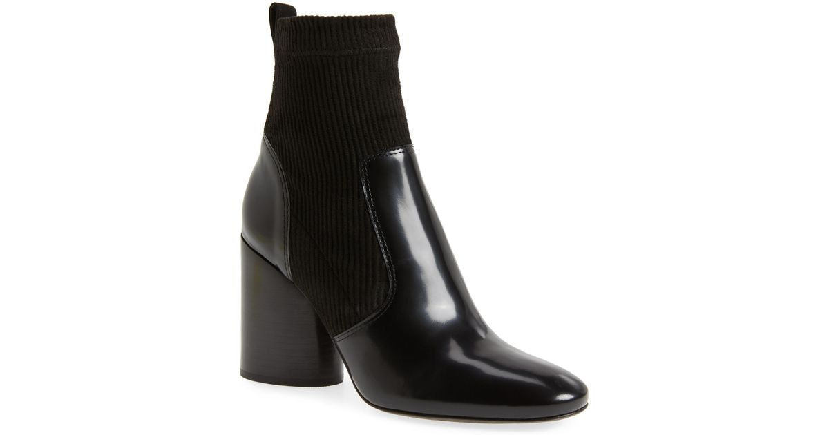 469311d659a8b Lyst - Tory Burch Rowen Sock Bootie in Black