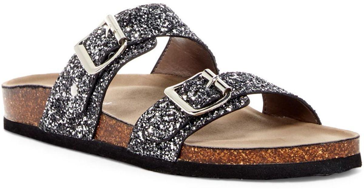 f04d15b6e08b Madden Girl Brando Glitter Slide Sandal - Lyst