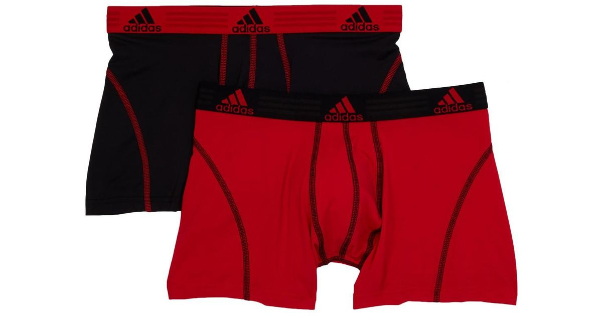 f40027df2fb0 Lyst - Adidas Sport Performance Climalite Trunks - Pack Of 2 - Xl in Red  for Men
